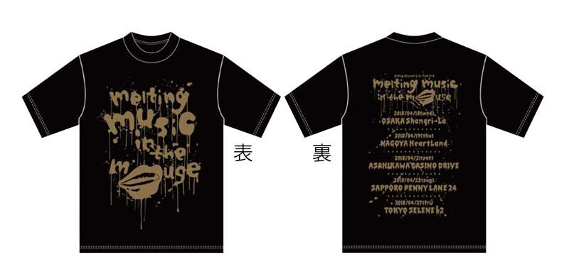 Tシャツ黒金